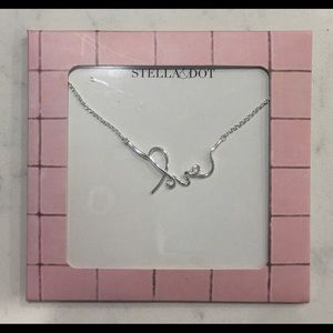 Stella & Dot Silver Love necklace - NEW